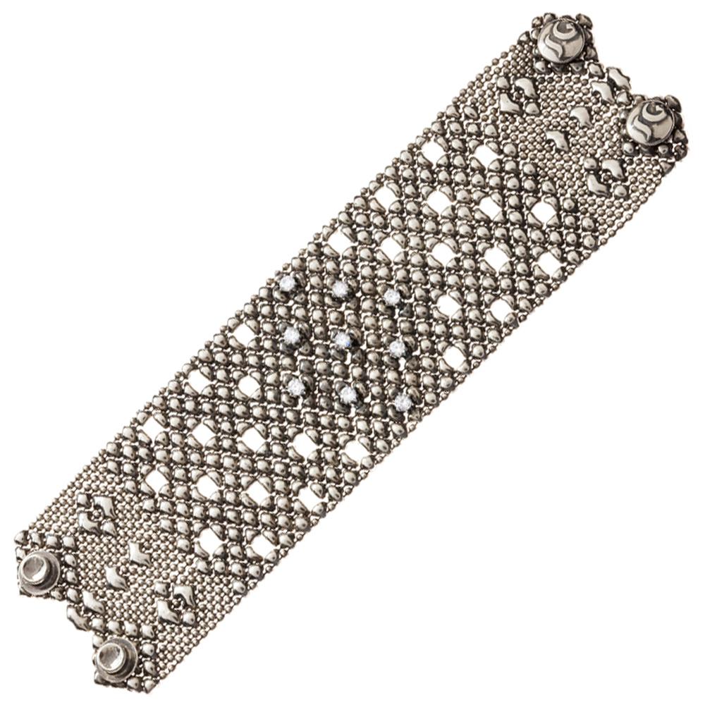 1a39d7a946e Sergio Gutierrez Liquid Metal Crystal Galaxy Stars Mesh Wide Cuff ...